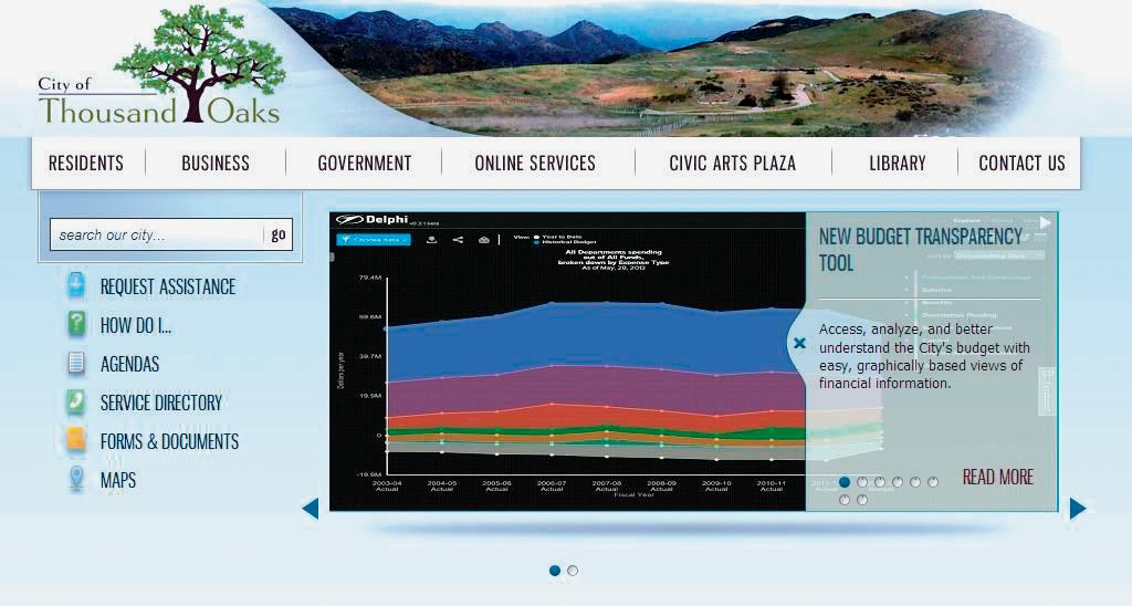 money mattersthe citys new budget transparency tool is available through the thousand oaks homepage